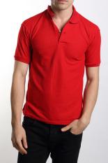 VM Kaos Polos Polo Shirt  - Merah