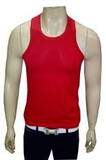 VM Kaos Singlet Pria - Singlet Fitness Gym - Singlet Santai - Merah