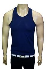 VM Kaos Singlet Pria - Singlet Fitness Gym - Singlet Santai Navy Blue