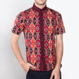 Promo Vm Kemeja Batik Casual Slimfit Pendek New Kombinasi Akhir Tahun