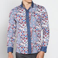 Promo Vm Kemeja Batik Pria Modern Casual Slimfit Panjang Long Shirt B 165 Vm