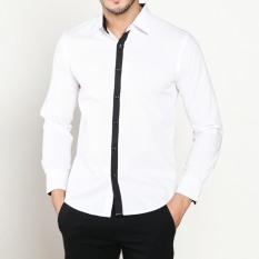 Diskon Vm Kemeja Casual Fashion Slimfit Putih Panjang Long Shirt Kml 126 Branded