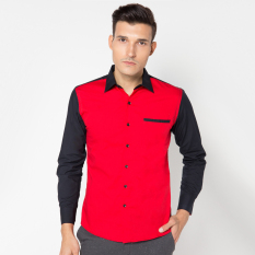 Harga Vm Kemeja Fashion Casual Slimfit Putih Kombinasi Merah Hitam Kml 411 Mrh Online Dki Jakarta