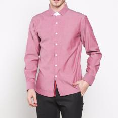 Jual Vm Kemeja Formal Slimfit Panjang Pink Salem Long Shirt Kml 137 Branded