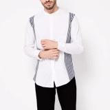 Spesifikasi Vm Kemeja Krah Shanghai Putih Slimfit Mandarin Collar Shirt Online