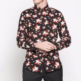 Spesifikasi Vm Kemeja Panjang Slimfit Hitam Batik Casual Long Shirt B 209 Yang Bagus
