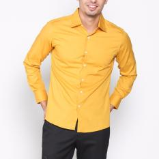 Diskon Produk Vm Kemeja Polos Panjang Slimfit Kuning Gold Long Shirt