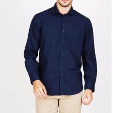 Penawaran Istimewa Vm Kemeja Polos Slimfit Panjang Biru Dongker Long Shirt Navy Blue Terbaru