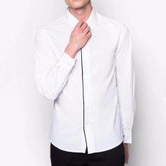 Jual Beli Vm Kemeja Polos Slimfit Putih Panjang Long Shirt Dki Jakarta