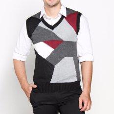 Toko Vm Sweater Rajut Hitam Abu Kombinasi Knitt Vest 011 Dki Jakarta