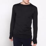 Jual Vm Sweater Rajut Panjang Polos Hitam Online