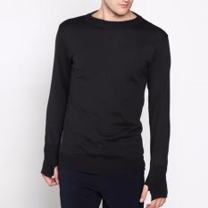 Beli Vm Sweater Rajut Panjang Polos Hitam