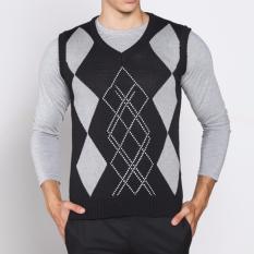 Vm Sweater Rompi Rajut Abu Kombinasi Vest Knitt 03 Vm Murah Di Dki Jakarta