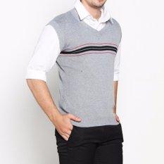 Harga Vm Sweater Rompi Rajut Abu Muda Knitt Vest 016 Vm Terbaik