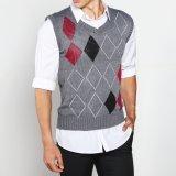 Review Vm Sweater Rompi Rajut Fashion Motif Kombinasi Abu Knitt Vest Rom 05 Terbaru