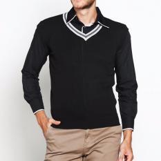 Review Tentang Vm Sweater Rompi Rajut Hitam Knitt Vest 010