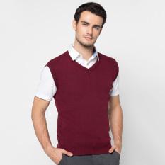 Spesifikasi Vm Sweater Rompi Rajut Merah Maroon Polos Vm Terbaru