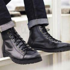 Toko Volker Footware Sepatu Ankle Boot Iris Monkeys Pria Black Terlengkap