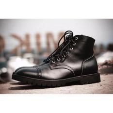 Jual Volker Footware Sepatu Ankle Boot Posaidone Black Pria Hitam Ori