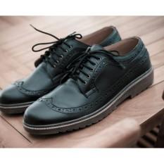 volkerfootwear sepatu keren/ longwing black pria