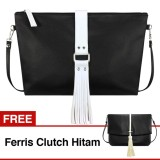 Spesifikasi Vona Lilian Gratis Free Ferris Hitam Paket 2 In 1 Tas Wanita Rumbai Selempang Slempang Bahu Kulit Sintetis Trendy Handbag Best Seller New Arrival Tassel Fringe Sling Clutch Pouch Tote Bag Handbag Totebag Korean Style Fashion Pu Leather Buy 1 Get 1 Murah Berkualitas