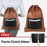 Jual Vona Parker Gratis Free Ferris Hitam Paket 2 In 1 Tas Ransel Wanita Best Seller Backpack Pria Kerja Punggung Serut Drawstring Sekolah Gym Sch**l Office Work Bag Korean Style Trendy Unisex New Arrival Fashion Kulit Sintetis Pu Leather Buy 1 Get 1 Vona Online