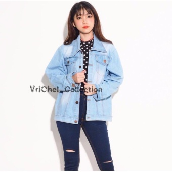 Bandingkan Toko Vrichel Collection Jaket / Jaket Jeans / Blazer / Jaket Jeans Jumbo Wanita Zira