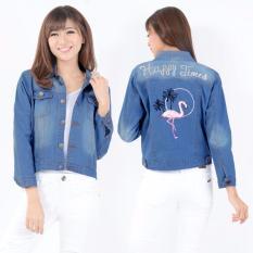 Harga Vrichel Collection Jaket Jeans Wanita Flaminggo Termurah