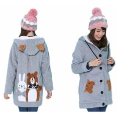 Jual Vrichel Collection Jaket Wanita Bear Bunny Abu Antik