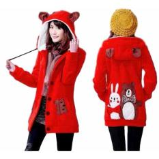 Spesifikasi Vrichel Collection Jaket Wanita Bear Bunny Merah Vrichel Collection