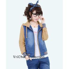 Beli Vrichel Collection Jaket Wanita Jeans Wash Coksu Vrichel Collection