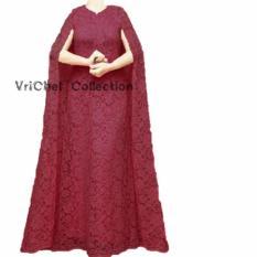 Vrichel Collection Kaftan Wanita Windi (Maroon)