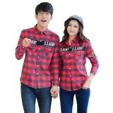 Beli Vrichel Collection Kemeja Couple Us Army Merah Vrichel Collection