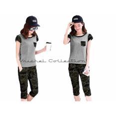 Jual Vrichel Collection Setelan Wanita Army Abu Baru