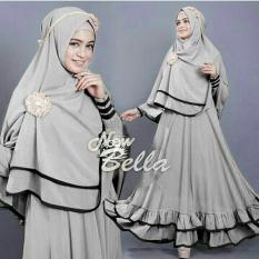 Vrichel Collection - Syari 2in1 Bella (Abu-Abu)
