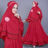 Jual Vrichel Collection Syari 2In1 Bella Merah Original