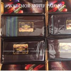 Wadimor Kain Sarung Tenun Muslim Pria Dewasa Corak Padang Cocok Untuk Ibadah Warna Gelap Original