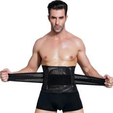 Pinggang Cinchers Men Body Shaper Perut Underwear Pinggang Korset Shapers Girdle Slim Belt Mendukung-hitam