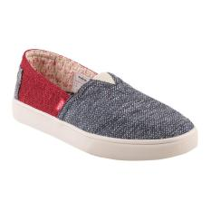 Jual Wakai Sepatu Slip On Pria Hashigo Knit Slm01703 Merah Biru Jawa Barat