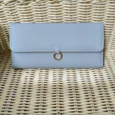 Jual Wallet Lady Dompet Kartu Wanita Bahan Halus Elegan Good Quality Biru Muda 1 Pc Lengkap