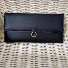 Jual Wallet Lady Dompet Kartu Wanita Bahan Halus Elegan Good Quality Black Lengkap