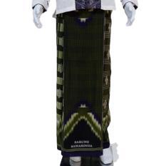 Harga Wan Sarung Pria Trendi Motif 3 Silky Touch Hijau Original