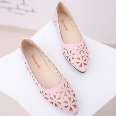 Wanita Baru Ibu Bernapas Sepatu Kerja Model Crocs Sandal Musim Panas (Merah Muda)