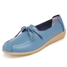 Diskon Wanita Datar Sepatu Kulit Manis Kausal Sepatu Nyaman Mengemudi Sepatu Wanita Kasut Leper Kulit Manis Sepatu Kausal Nyaman Mengemudi Sepatu Biru Oem Di Tiongkok