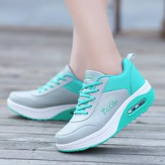 Busana Santai Wanita Sepatu Kets Sepatu Olahraga Sepatu Lari Sepatu Berjalan Hijau