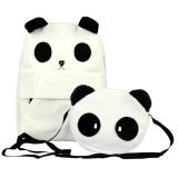 Spesifikasi Wanita Gaya Korea Cantik Putih Ransel Kanvas Panda Kecil Bahu Bag Lengkap