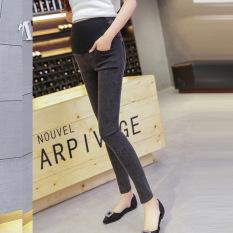 Wanita Hamil Musim Semi Jeans Elastis Pinggang Tinggi Perut Dukungan Celana Pensil Pensil Maternity Jeans Kehamilan Legging