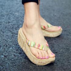 Wanita Musim Panas Sepatu Sepatu Wanita Rafi 7 Cm Tinggi Terjepit Toe Clip Sandal Sandal Ukuran 35-39