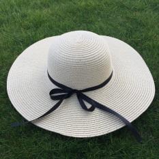 Wanita Musim Panas Topi Pantai Topi (Warna Beras)