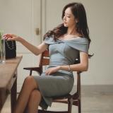 Spek Wanita Seksi Musim Semi Dan Musim Panas Baru Gaun Kerah Gambar Warna Tiongkok